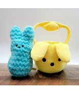 Peeps Blue Chevron Plush Bunny w/ Peeps Flipeez Plush Yellow Easter Basket - $22.00