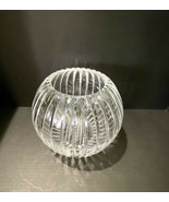 """Vintage Cut Crystal ROSE BOWL Round Vase - 4""""D - $60.78"""