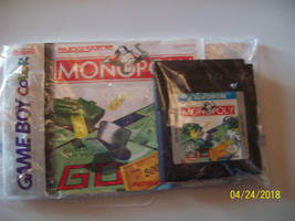 Monopoly (Nintendo Game Boy Color, 1999) WITH MANUAL - AUTHENTIC - $9.00