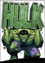 Marvels The Incredible Hulk Holding Name Comic Art Refrigerator Magnet UNUSED - $3.99