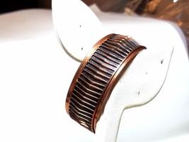 Renoir Copper Vintage Cuff Bracelet Shadows Black Enamel - $40.49