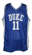 Bobby Hurley #11 Custom College Basketball Jersey New Sewn Blue Any Size image 3