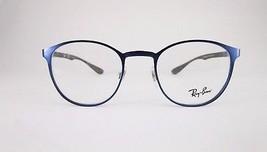 RayBan RB6355 2510 Optical Frame Metallic Blue Round Eyeglasses  - $55.90
