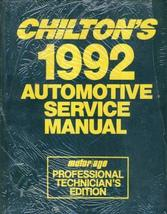 Chilton's 1992 Automotive Service Manual/1988-92 Automotive Service/Prof... - $21.73