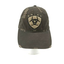 buy popular f3eba 728ec ARIAT Brown Distressed embroidered logo Strapback unstructured Hat Cap -   16.83