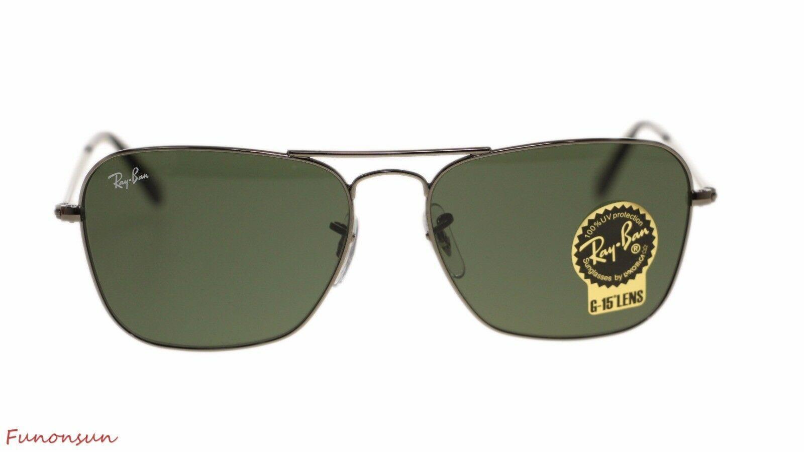 Ray Ban Occhiali da Sole da Uomo RB3136 004 Gunmetal Lente Verde 58mm Autentico