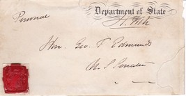 SENATOR & U.S. SEC. OF STATE HAMILTON FISH c.1870s FREE FRANK to VT SENATOR - $123.75