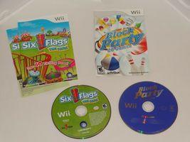 Six Flags Fun Park - Nintendo Wii UBI Soft + Block Party 20 Games Activision image 5