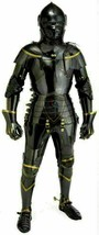Medieval Knight Suit of Armor Combat Full Body Armour Black Knight Wearable - $1,237.49