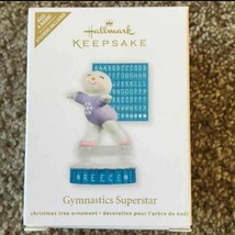 Hallmark Keepsake Gymnastic Superstar Personalized Snowman Christmas Orn... - $9.89