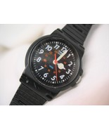 "L70, TIMES Indiglo, Ladies Wristwatch, Petite Blk Face, 7"" Black Silicon... - $15.79"