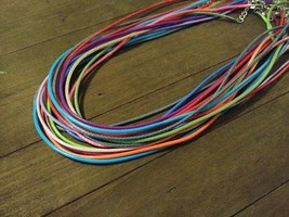 """5 Necklace Cords Assorted Lot Braided Wax Cord Jewelry Making 17.5"""" 1.5mm - $2.03"""