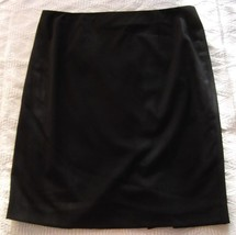 NWT Tahari Black Polyester/Rayon Knee Length Skirt Misses Size 12 (UK 16) w Vent - $50.49