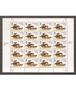 Cherokee Strip Land Run, Sheet of 29 cent stamp... - $8.50