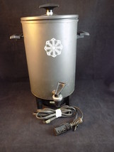 Vintage WEST BEND MIRACLE MAID ELECTRIC COFFEE MAKER PERCOLATOR Black 20... - $21.77