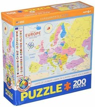 EuroGraphics (EURHR Map of Europe 200Piece Puzzle 200Piece Jigsaw Puzzle - $13.85
