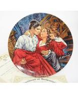 Scarlett and Rhett Finale Gone With The Wind Plate 1986 Knowles COA Orig... - $8.45