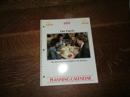 1991 McDonald's Planning Calendar-72 Pages-Unused - $11.95