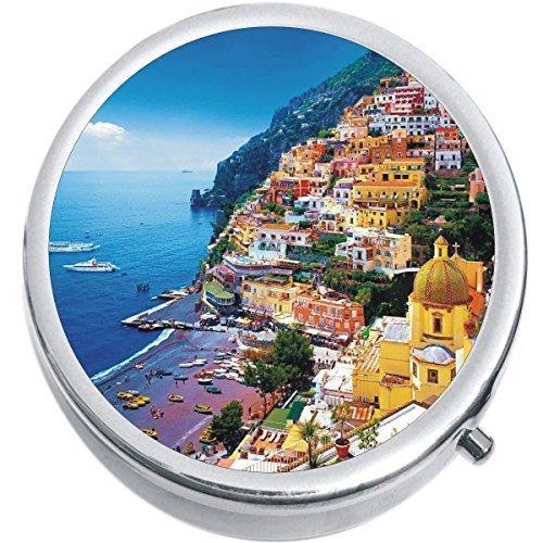 Amalfi Coast Medicine Vitamin Compact Pill Box - $9.78