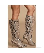 Steve Madden Women's Kinga Snake Skin High Heel Boots Size 7.5 - $89.99