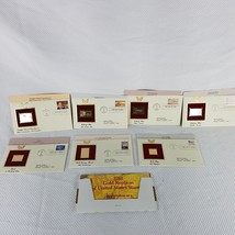7 First Day Cover 22K Gold Stamp Envelope Lot Olympics Fishing Love Eise... - $24.70