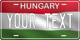 Hungary Flag Wave License Plate Personalized Car Auto Bike Motorcycle Cu... - $10.99+
