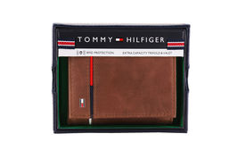 Tommy Hilfiger Men's Leather RFID Extra Capacity Trifold Wallet 31TL110044 image 11