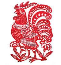 Panda Superstore Creative Traditional Chinese Zodiac Chicken Delicate Paper Cut