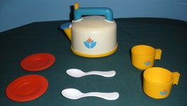 Vtg. Fisher Price Fun with Food #2113 Whistling Tea Kettle Complete/VG++... - $38.00