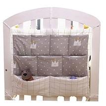 Imperial Crown Pattern Infant Bedside Multilayer Pouch Storage Bag Diaper Bag image 2