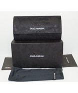 NEW AUTH D&G DOLCE & GABBANA HARD BLACK LACE SUNGLASSES CASE w/BOX, POUCH - $23.36