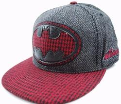 Concept One DC Comics Batman Herringbone Flat Bill Cap Hat OSFM - £14.21 GBP