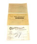 3 1901 Providence RI Billhead Document Receipts Machinist Mill Supplies ... - $10.99