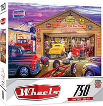 MasterPieces Wheels Jigsaw Puzzle, Old Timer's Hot Rods, Featuring Art by Bruce  - $11.39