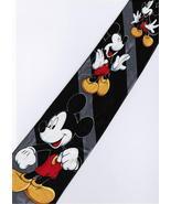 Mickey Mouse Disney 3 Pose Handsome BLACK Cartoon Novelty Fancy Neck Tie - $12.99