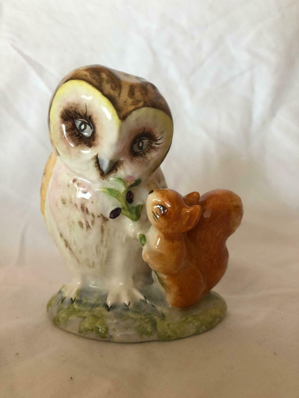 Porcelain Owls Figurines Beswick England Unique Beatrix Potter's and Walt Disney