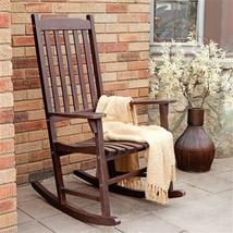 Indoor/Outdoor Patio Porch Slat Rocking Chair - $229.00