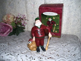 HALLMARK ORNAMENT ALL SPORT SANTA SCULPTED BY DILL RHODUS 2001 MIB - $16.82