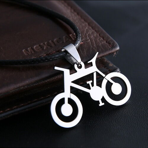 Primary image for Bicycle Pendant Necklace Stainless Steel NEW