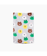 LINE Friends Navy Pattern Soft Microfiber Blanket Small Naver Character ... - $36.42