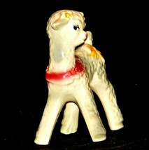 Ceramic Lamb Figurine AA19-1559 Vintage image 2
