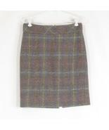 Slate blue khaki geometric wool blend J. CREW pencil skirt 2 - $24.99