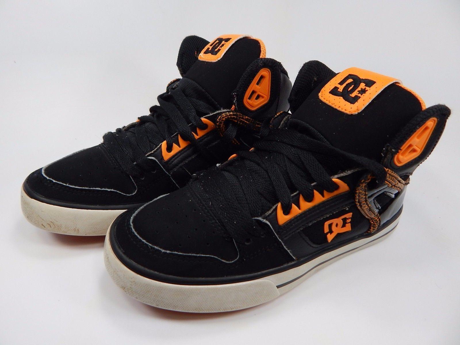 DC Spartan High Men's Boy's Youth Athletic Shoes Size 5 Y (M) EU 37 Black Orange