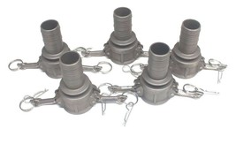 """LOT OF 5 NEW GOODYEAR C150-SS STAINLESS STEEL COUPLERS 1-1/2"""", C150SS"""