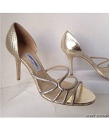 NEW Authentic JIMMY CHOO Straits D'Orsay Gold Sandals (Size 40.5) - MSRP... - $349.95