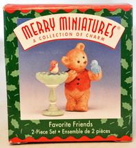 Hallmark - Favorite Friends - 2 Piece Set - Merry Miniature Collection 1999 - $9.20