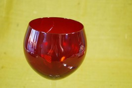 "LENOX TUSCANY HOLIDAY GEMS BALLOON GOBLET Red 8-5/8"" RED WINE GLASS image 2"