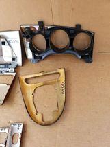 00-03 Jaguar XK8 XKR 8pc Wood Grain Dash Console Switch Trim Set image 11
