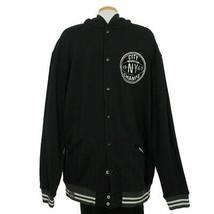 Polo Ralph Lauren Black Fleece Hooded Baseball Brooklyn Ny Jacket 2XB Big Tall - $119.99