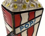 "Burton Morris Popcorn Pop Cookie Jar 10.5"" Westland Giftware Movie Theater Box"